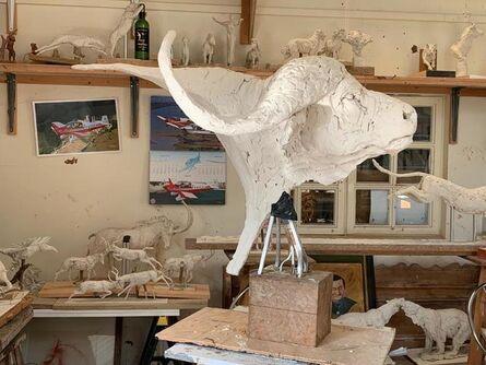 Mark Coreth, 'Life-size Buffalo bust', 2020