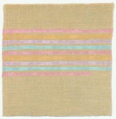 Giorgio Griffa, 'Linee orizzontali', 1975