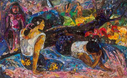 Vik Muniz, 'Repro: Glyptoteket (Reclining Tahitian Women, Gauguin)', 2018