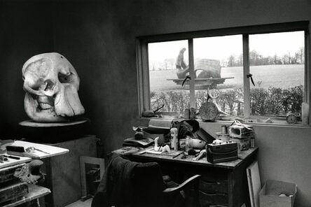 André Kertész, 'Henry Moore's Studio with Elephant Skull, England, 1980', 1980