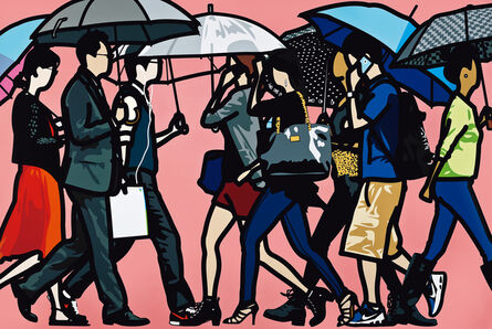 Julian Opie, 'Walking in Sadang-dong in the Rain', 2014