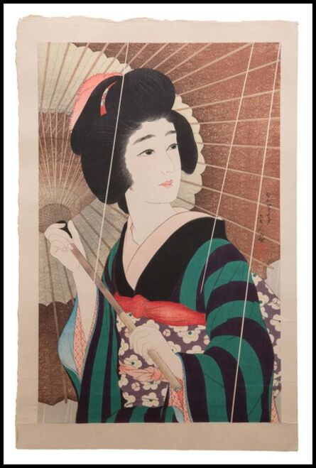Kotondo Torii, '雨 (Ame, Rain)', 1929