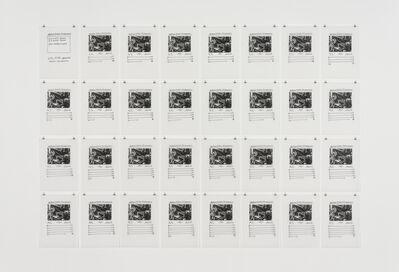 Hanne Darboven, 'Gustav Stresemann postum', 1998