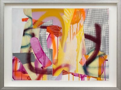 Fiona Ackerman, 'Composition No 24 - colorful collage in bright magenta, red, yellow and orange', 2015