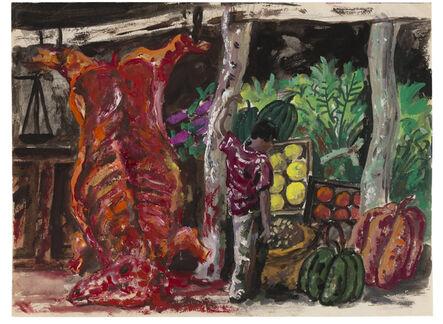 """Antonio Berni, 'Sin Título (Mercado popular de Santiago del Estero). de la serie """" Santiago del Estero""""', ca. 1957"""