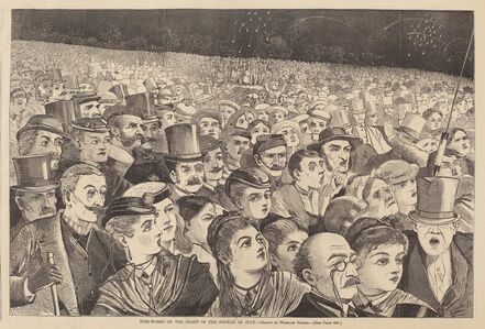 After Winslow Homer, 'Fire-Works on the Night of the Fourth of July', published 1868