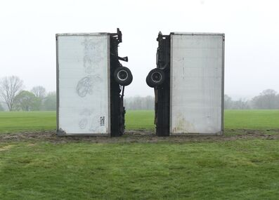 """Dan Colen, '""""At Least They Died Together (After Dash)""""', 2014"""