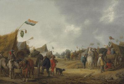 Palamedes Palamedesz. I, 'A military encampment', 1634