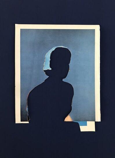 John Stezaker, 'L'Heure Bleue (Blue Double Shadow) V', 2020