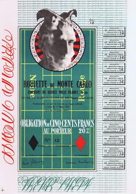 Marcel Duchamp, 'Obligation Monte Carlo / Monte Carlo Bond', 1938