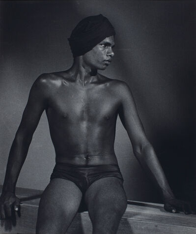 Lionel Wendt, 'Untitled (Portrait of seated Marwan)', ca. 1935