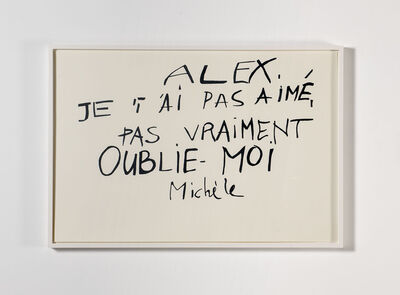 Mekhitar Garabedian, 'Lettre de Michèle, from Les Amants du Pont-Neuf (1991)', 2013-2014