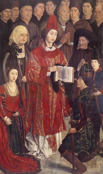 Nuno Gonçalves, 'Saint Vincent with the Portuguese Royal Family, panel from the Altarpiece of Saint Vincent', ca. 1465-67
