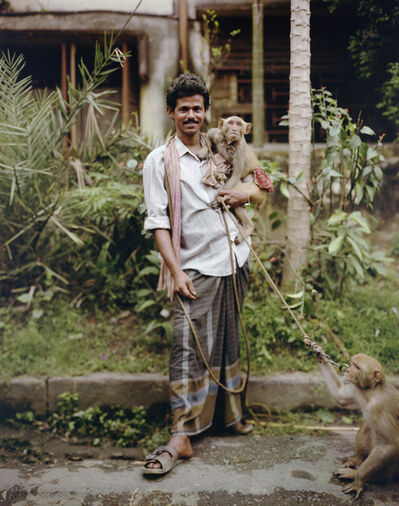 Laura McPhee, 'Street Performer with Two Monkeys, Jodhpur Park, Kolkata', 1998