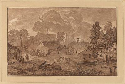 Cornelis Ploos van Amstel and Cornelis Brouwer after Allart van Everdingen, 'Village with Pond', ca. 1782