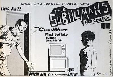 Raymond Pettibon, 'Raymond Pettibon Punk Flyer (Raymond Pettibon The Subhumans at Polish Hall)', 1981