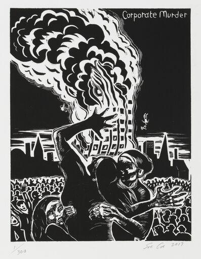 Sue Coe, 'Grenfell Tower (Corporate Murder)', 2017