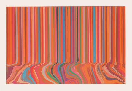 Ian Davenport, 'Colourcade Buzz: Red and Orange Mirrored', 2017