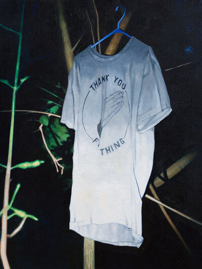 Scott Waters, 'Stress fractures in titanium. What kind of work you do? [Title from Michael Mann's Heat, source T-shirt by Ben Sears]'