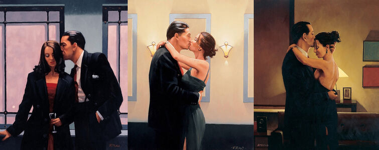 Jack Vettriano, 'The Betrayal Series (3 Signed Limited Edition Prints)', 2019