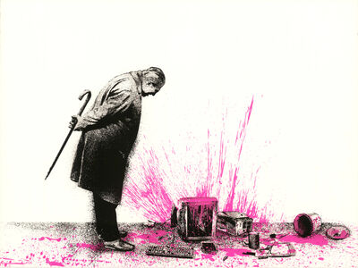Mr. Brainwash, 'Glitch - Pink', 2018