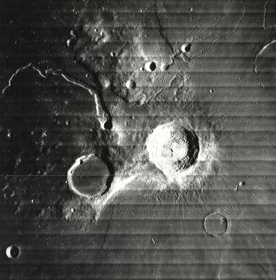 NASA, 'The Moon - Crater Aristarchus, Schroter's Valley', 1967