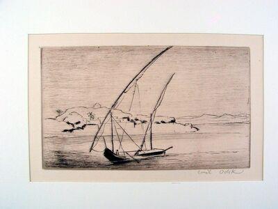 Emil Orlik, 'Feluka on Nile', ca. 1902
