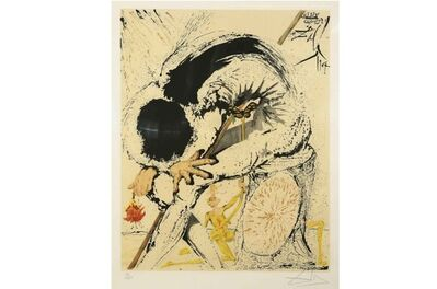 Salvador Dalí, 'Don Quixote - Overwhelmed', 1957