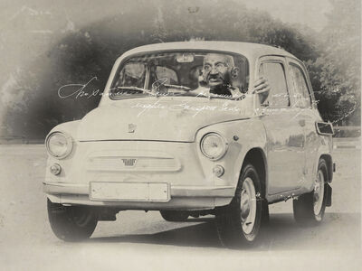 Petr Lovigin, ' Gandhi On the Move', 2015