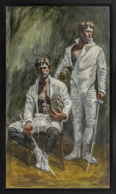 Mark Beard, '[Bruce Sargeant (1898-1938)] Portrait of Two Fencers', n.d.
