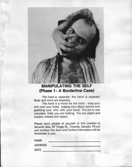 General Idea, 'Manipulating the Self (Phase 1 – A Borderline Case)', 1970