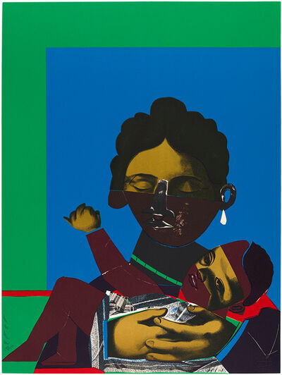 Romare Bearden, 'MOTHER AND CHILD', 1971