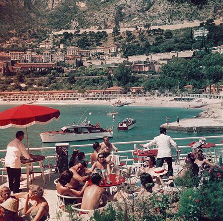 Slim Aarons, 'Cafe Terrace In Nice ', 1957
