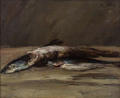 Antoine Vollon, 'Nature morte au lieu et aux maquereaux', Late 19th Century