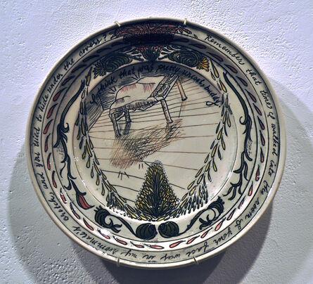 Heather Ossandon, 'Commemorative Plates of Shitty Things: The Break Ups-Chris 1', 2014
