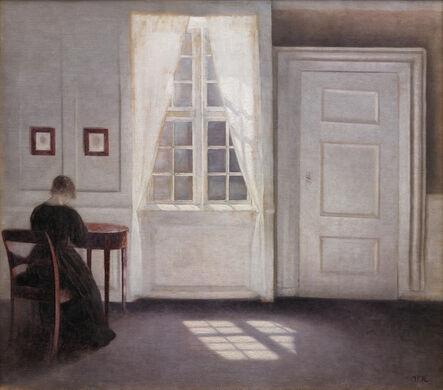 Vilhelm Hammershøi, 'Interior in Strandgade, Sunlight on the Floor', 1901
