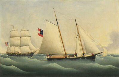 """Fritz Müller, 'Capture of the """"Savannah"""" by the """"U.S.S. Perry""""', 1861"""