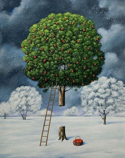 Rafal Olbinski, 'Apple tree', 2020