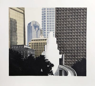 Richard Haas, 'Dallas Skyline', 1989