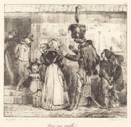 Nicolas-Toussaint Charlet, 'Seriez vous sensible?', 1823