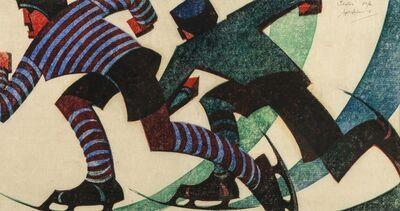 Sybil Andrews, 'Skaters (Coppel SA 52; Leaper 61) ', 1953