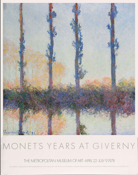 Claude Monet, 'Monet's Years at Giverny Museum Poster', 1978