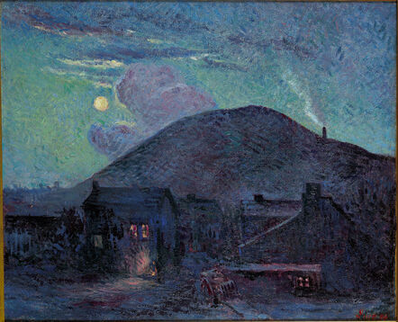 Maximilien Luce, 'Blast Furnaces at Charleroi', 1896