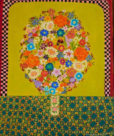 Hepzibah Swinford, 'Chartreuse flowers', 2017
