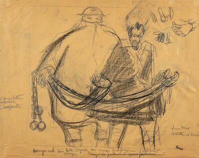 Mario Sironi, 'Study for figures'