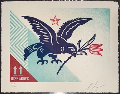 """Shepard Fairey, 'Shepard Fairey Letterpress Print """"Rise Above Bird"""" Street Urban Contemporary Art Signed And Numbered ', 2021"""