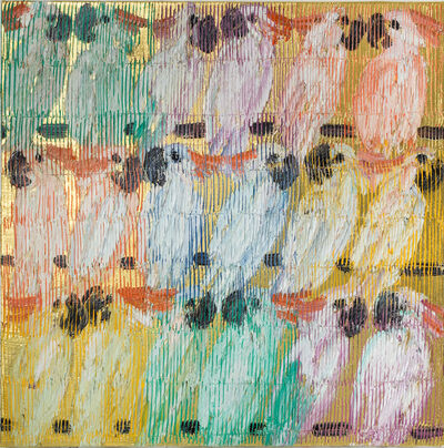 Hunt Slonem, 'Moluccans Bitty', 2020