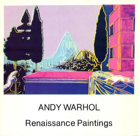 Andy Warhol, 'Warhol Renaissance Paintings announcement 1984 (vintage Andy Warhol)', 1984