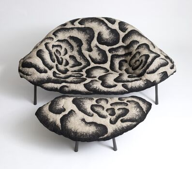 Ayala Serfaty, ''Mika Leh Due' Two-Seater Chair & Footrest', 2018