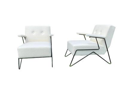 Carlo Hauner & Martin Eisler, 'Rare pair of lounge chairs by Martin Eisler & Carlo Hauner ca 1959 for FORMA', 1959
